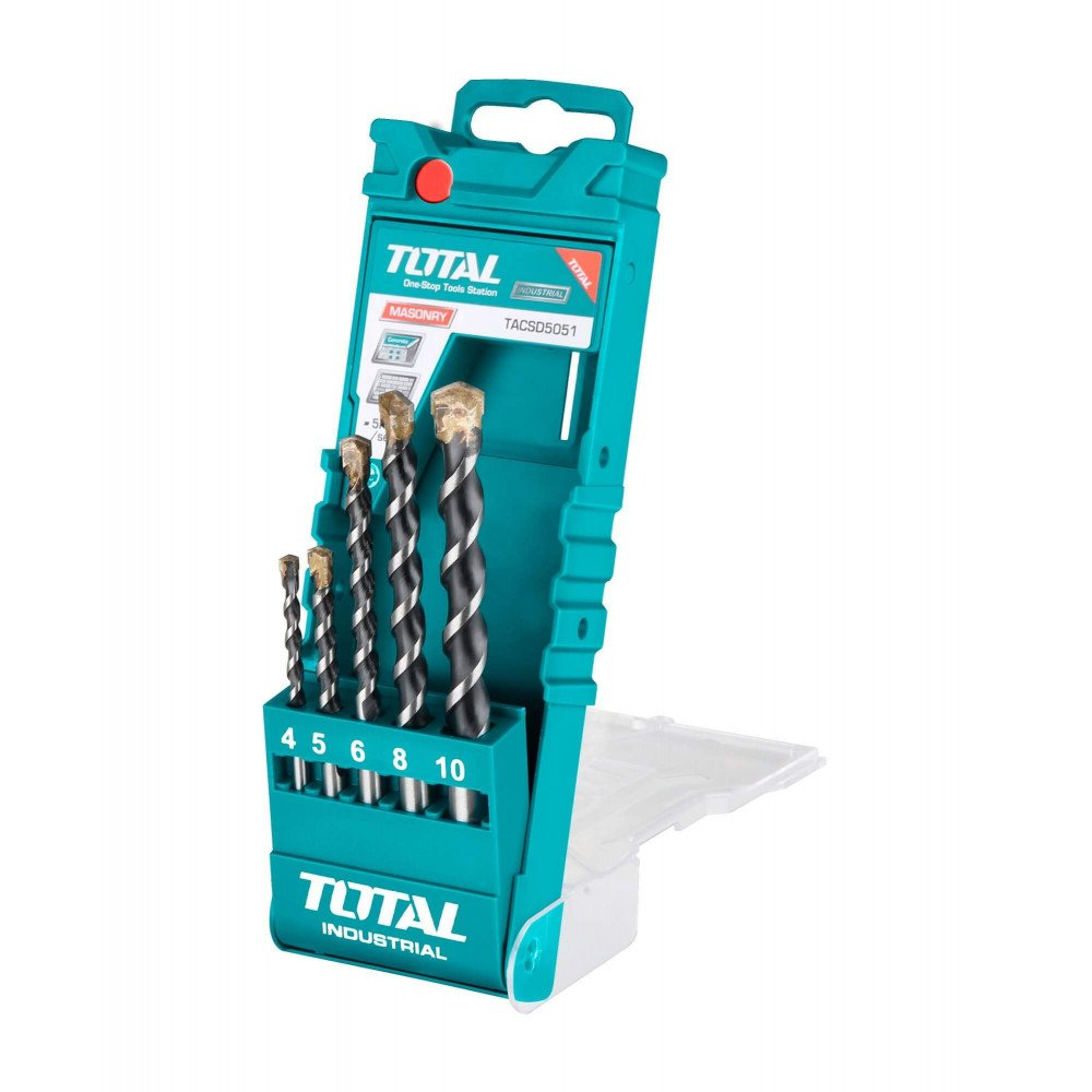 Set Brocas para Concreto 5 Unidades Total Tools TACSD5051
