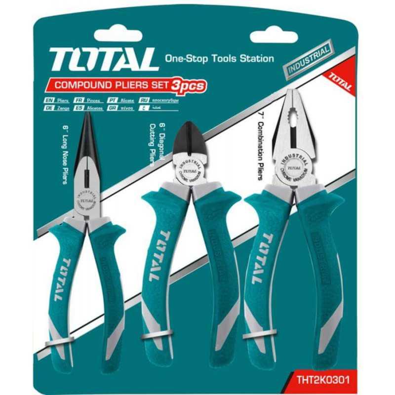Set de Alicates 3 Unidades Total Tools THT2K0301