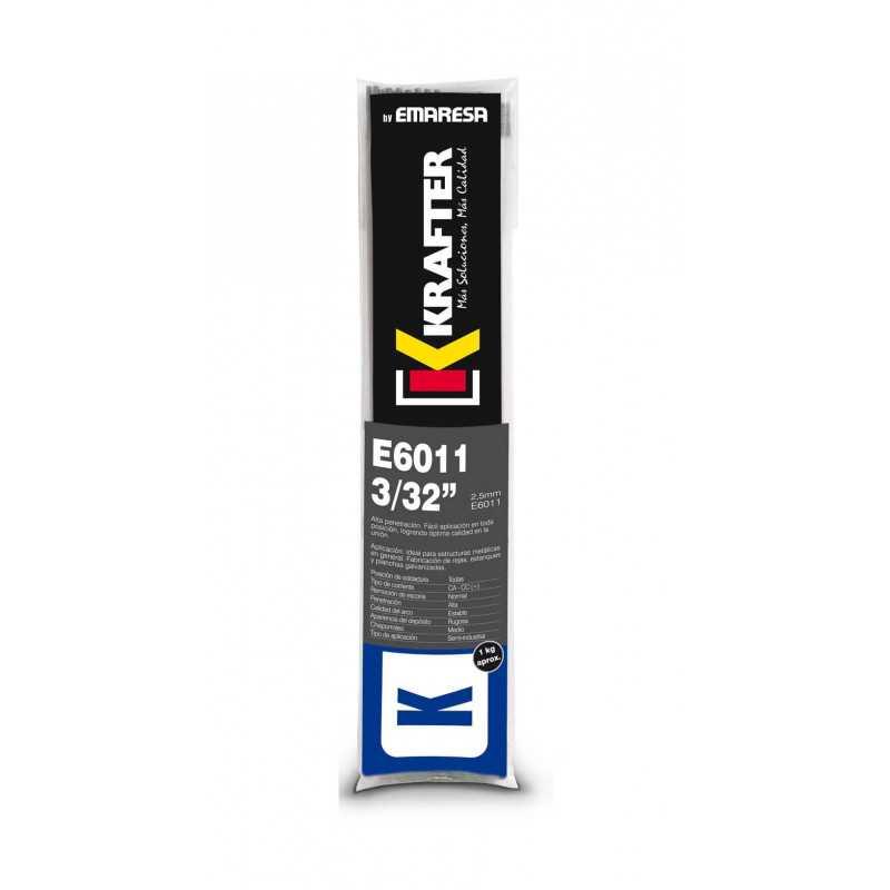"""Electrodo 3/32"""" (2.5mm) 1Kg E 6011 Krafter 4420000060112"""