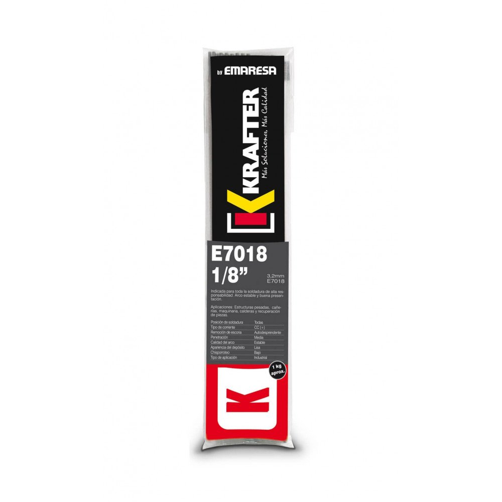 """Electrodo 1/8"""" (3.2mm) 20Kg E 7018 Krafter 4456000070181"""