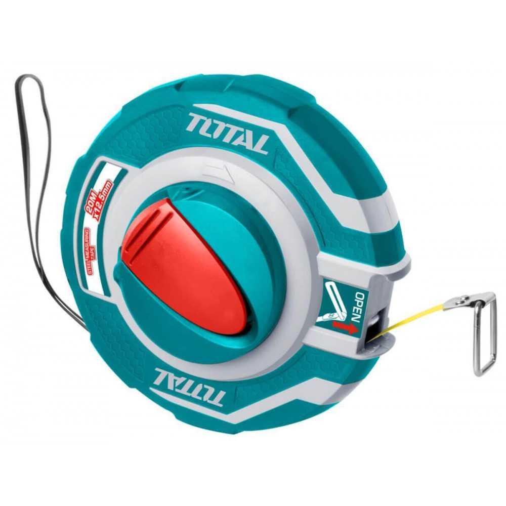 Huincha de Medir 20MT x 12.5MM Mango Ergonómico Total Tools TMT11206