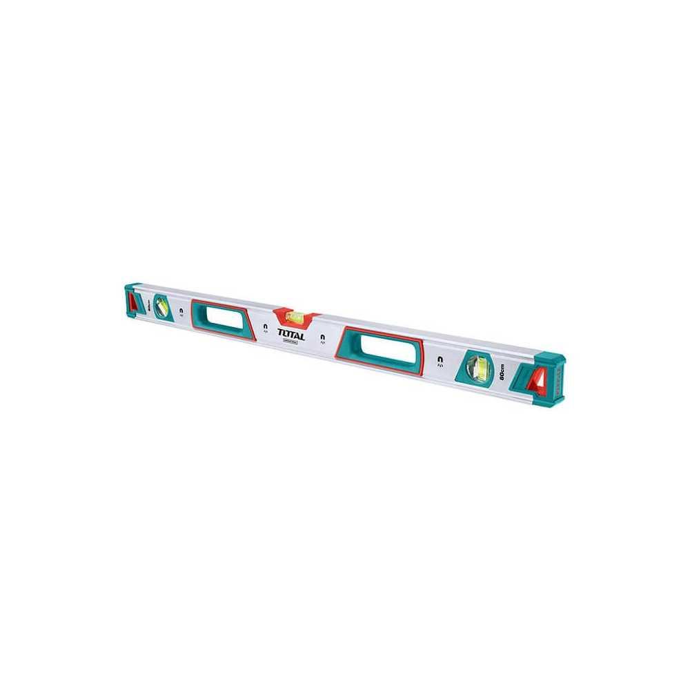 Nivel De Aluminio 3 Aguas Con Imán 100 CM Total Tools TMT21005M