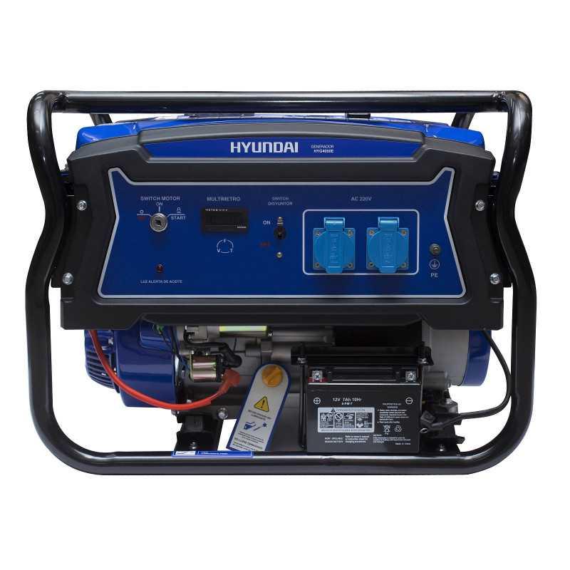 Generador Eléctrico Gasolina 2,5/2,8 Kw/Kva Partida eléctrica monofásico Abierto HYUNDAI 82HYG4050E