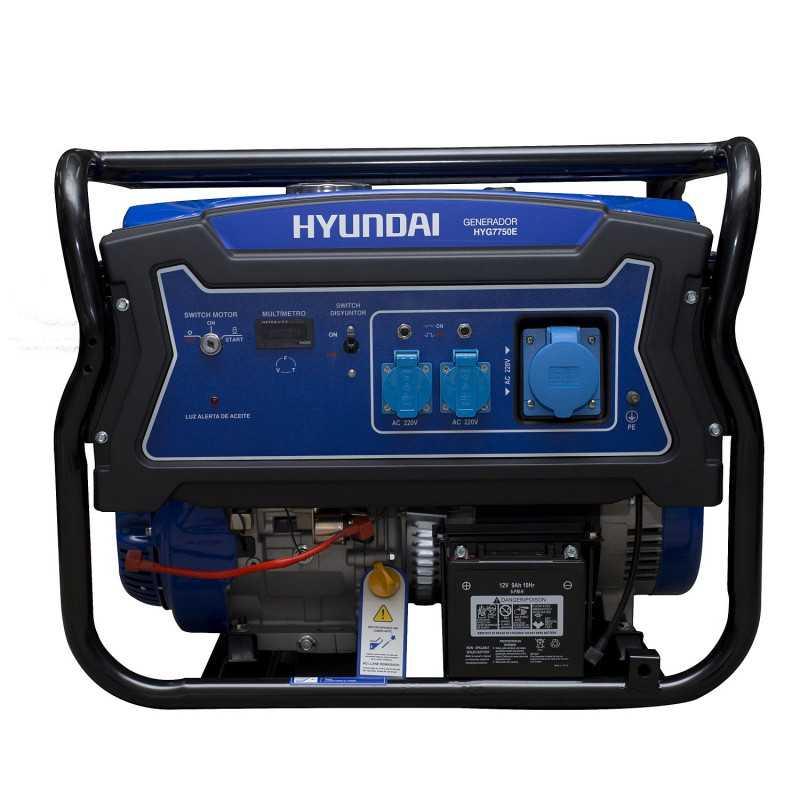 Generador Eléctrico Gasolina Monofásico 5/5,5 Kw/Kva HYUNDAI 82HYG7750E