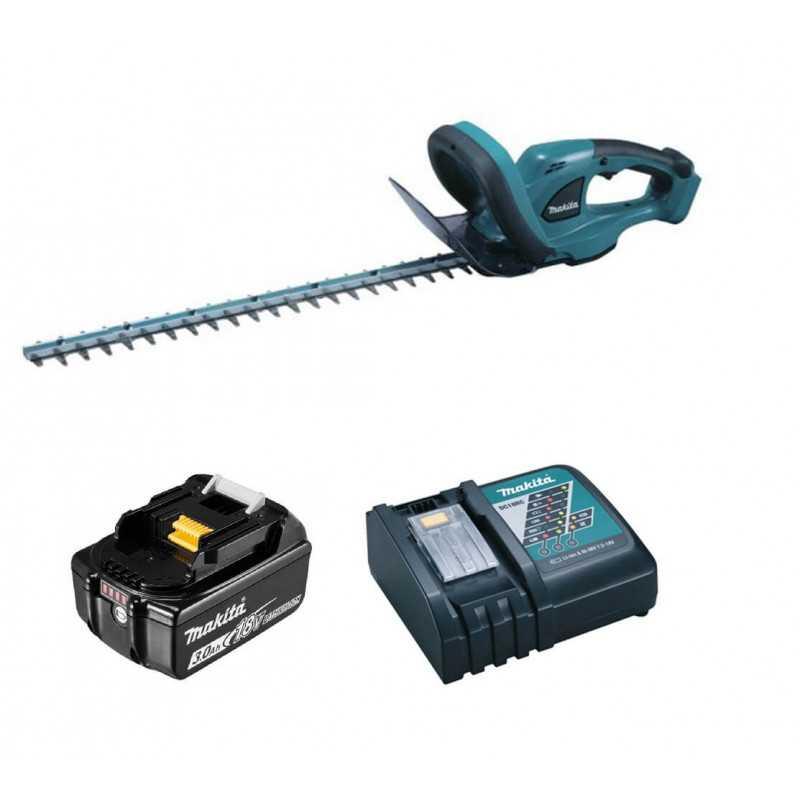 """Cortasetos Inalámbrico 20-1/2"""" (520 mm) + Cargador + Batería 18V Makita DUH523Z-1"""