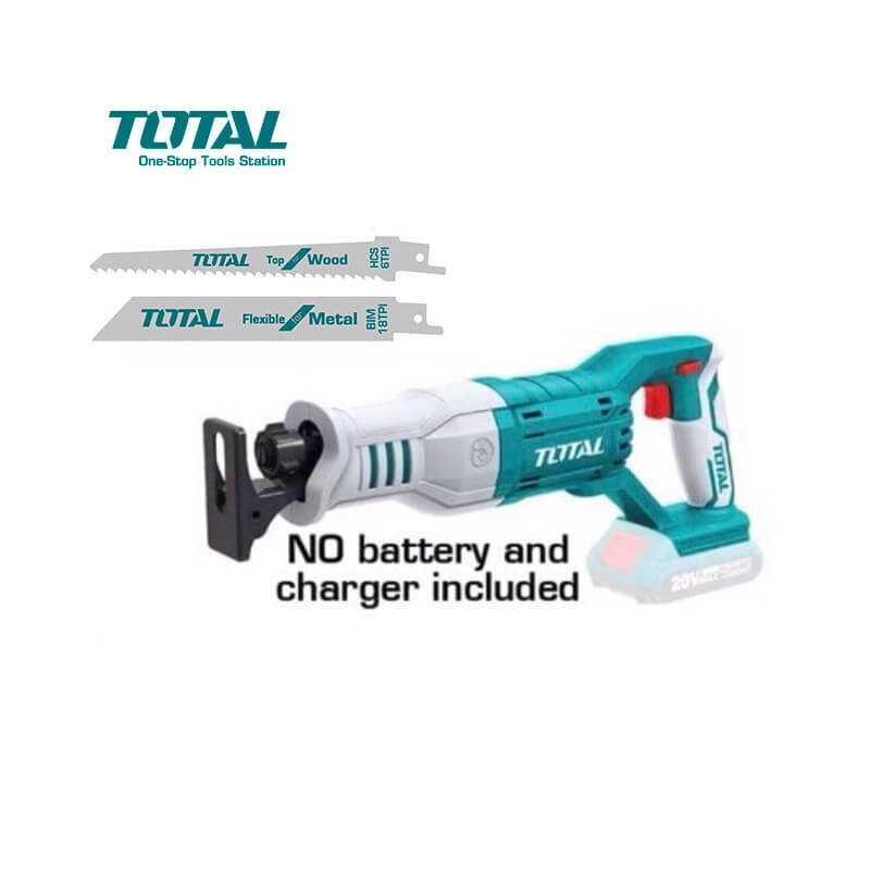 Sierra Sable Inalámbrica 20V 0-3200Rpm Sin batería ni cargador Total Tools TRSLI1151