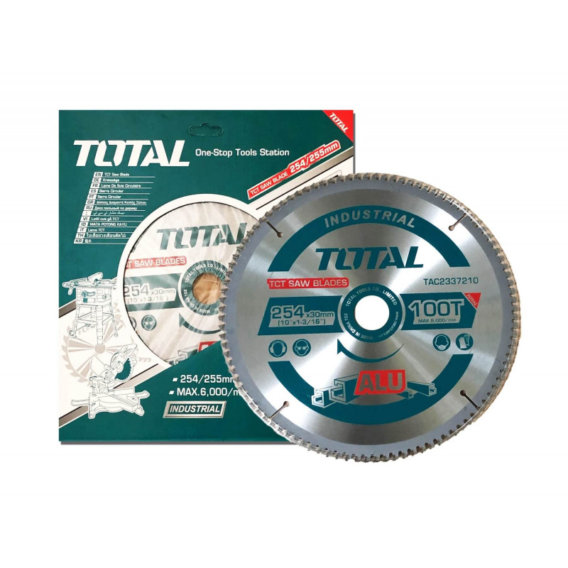 "Disco de Corte para Alumino 10"" 100 Dientes Total Tools TAC2337210"