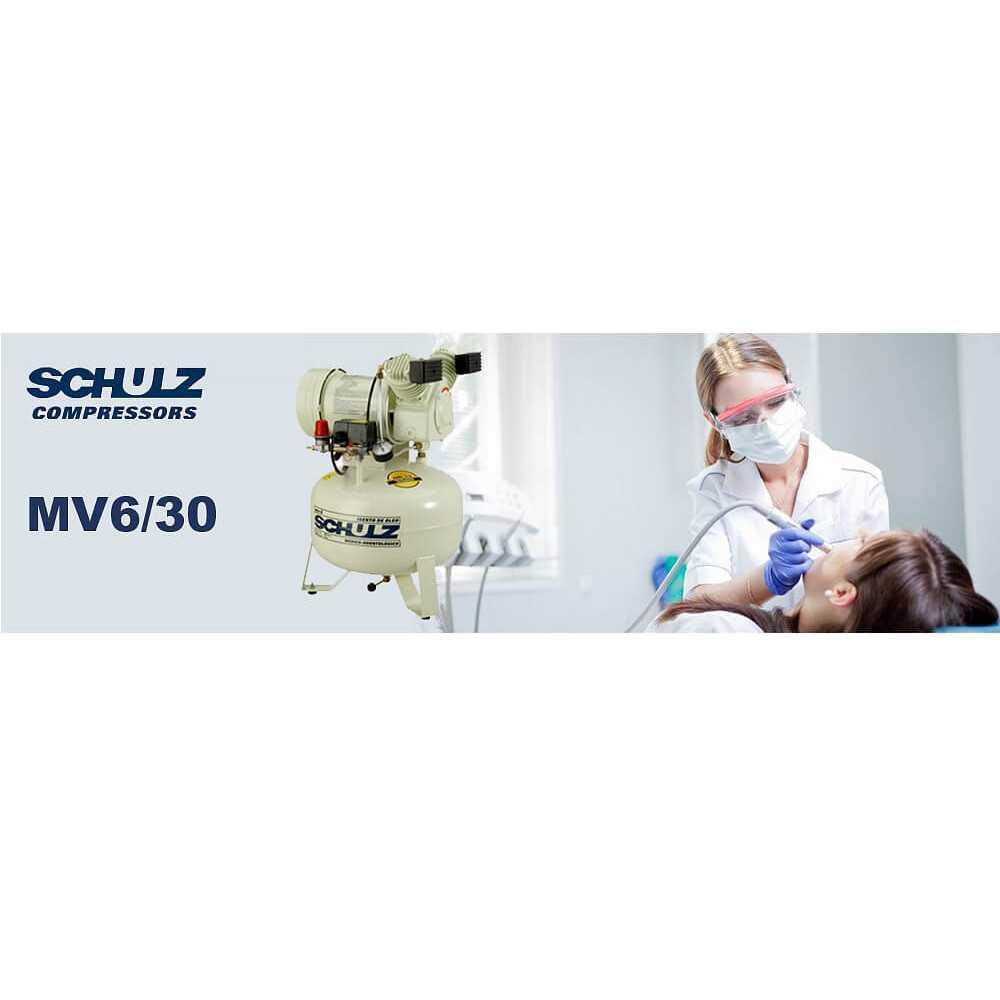 Compresor de aire MSV-6.0/30L 1HP 220V Sin Aceite Schulz 9311231-0