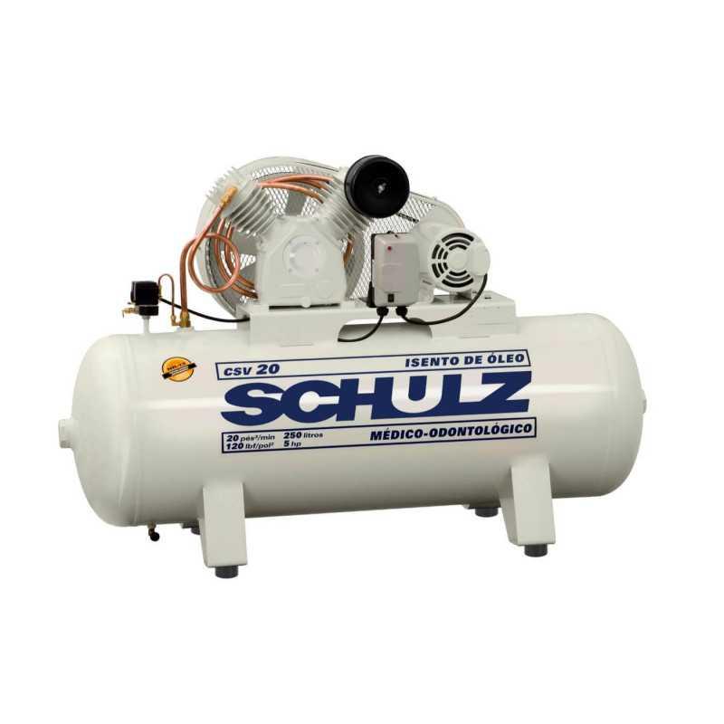 Compresor de aire CSV-20/250L 5HP 380V Trifásico Sin Aceite Schulz 9327531-0