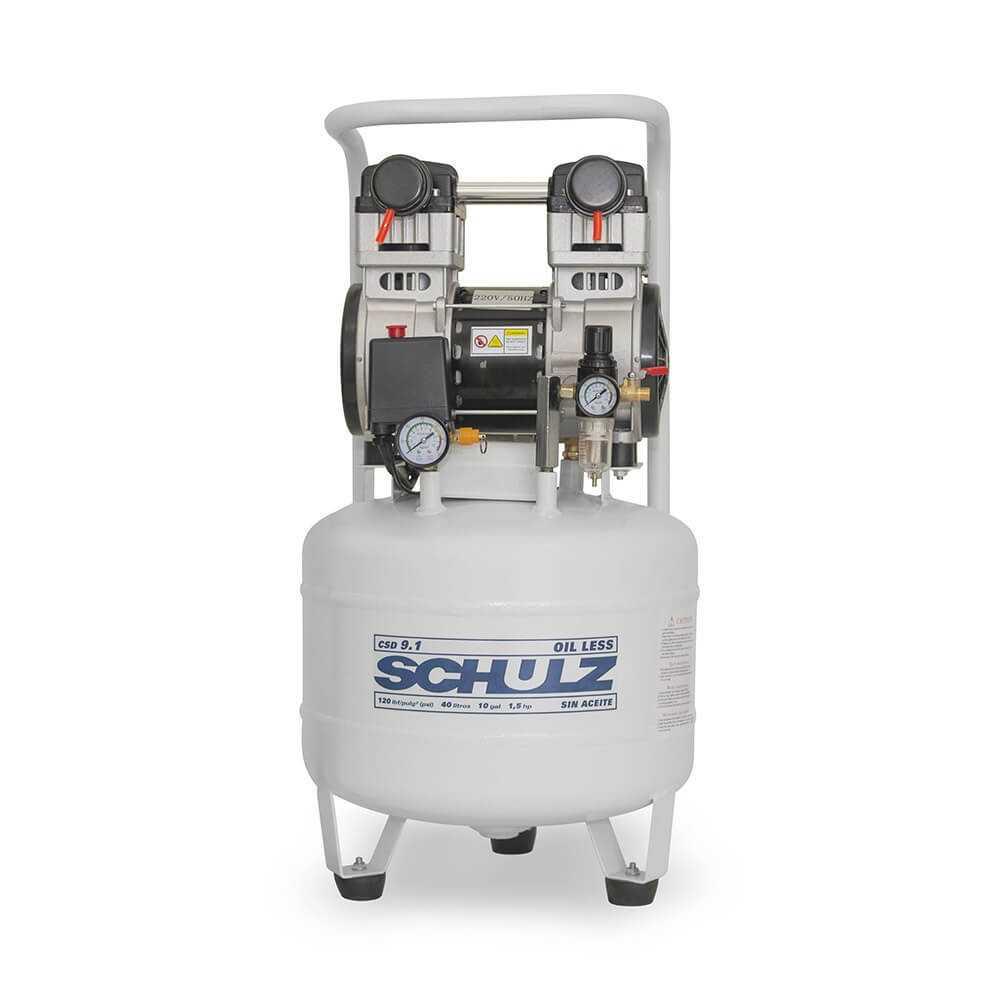 Compresor de aire CSD-9.1/40L 1.5HP 220V Sin Aceite Schulz 9311342-0
