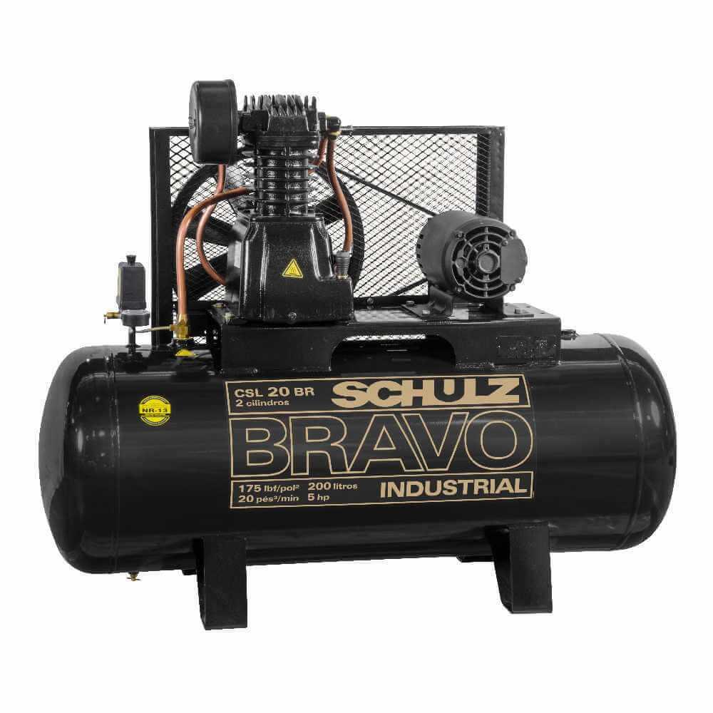 Compresor de aire CSL-20BR/250L 5HP 380V/660V Trifásico Bravo Schulz 9318247-0