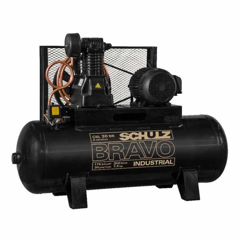 Compresor de aire CSL-30BR/350L 7.5HP 380V/660V Trifásico Bravo Schulz 9318245-0