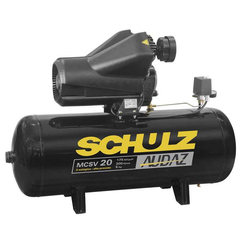 Compresor de aire MCSV-20/200L Alta Presión 5HP 380V Trifásico Schulz 9327552-0