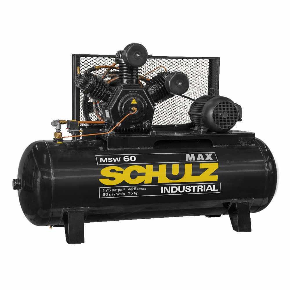 Compresor de aire MSW-60MAX/425L 15HP 380V/660V Trifásico Schulz 9343489-0