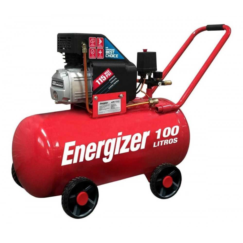 Compresor de Aire 2.5HP 100L 220V Monofásico Energizer EZC100D