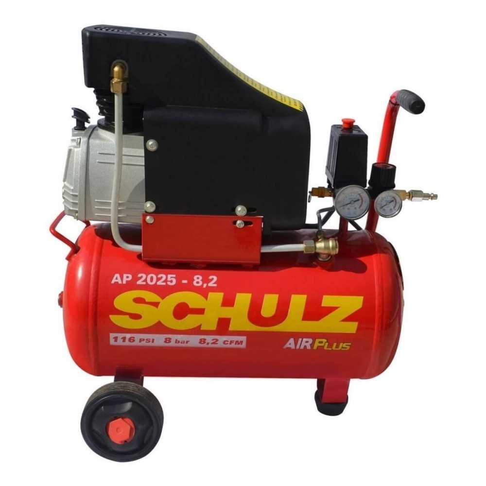 Compresor de aire AP 2025 2HP AIRPLUS 220V 24L con Ruedas Schulz 9300278-0