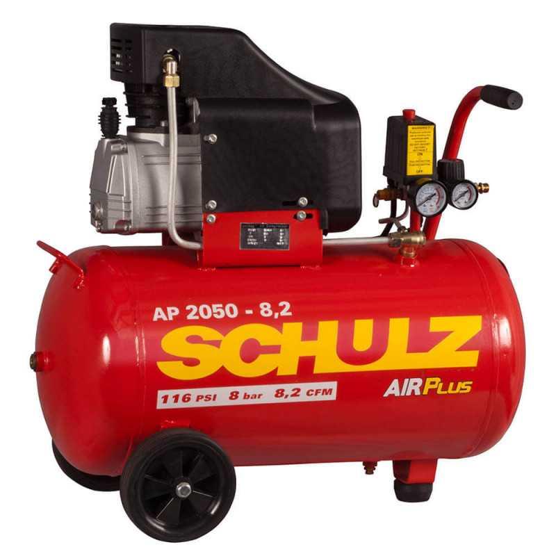 Compresor de aire AP 2025 2HP AIRPLUS 220V 50L con Ruedas Schulz 9300281-0