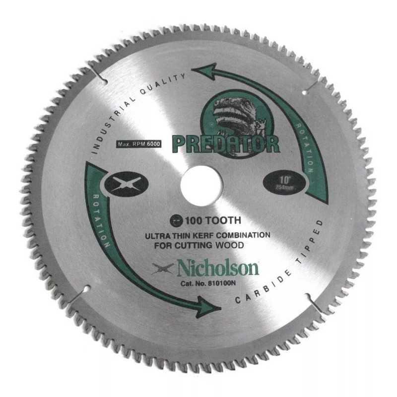 "Disco de Corte Aluminio 10"" 100 Dientes Nicholson 810100N"
