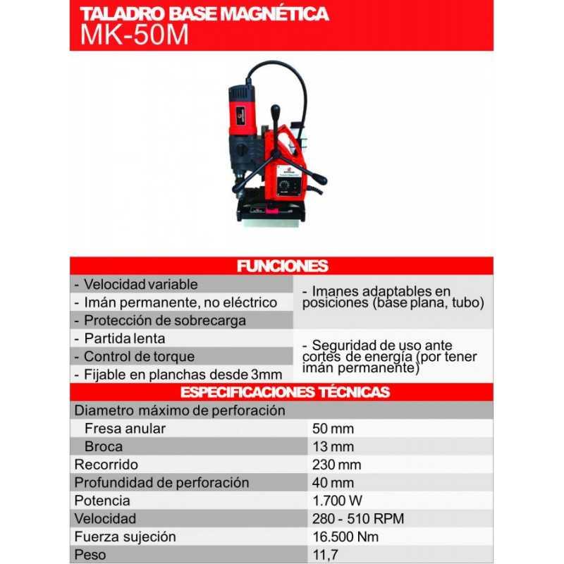 Taladro Magnético 1700 W Kothman MK-50M