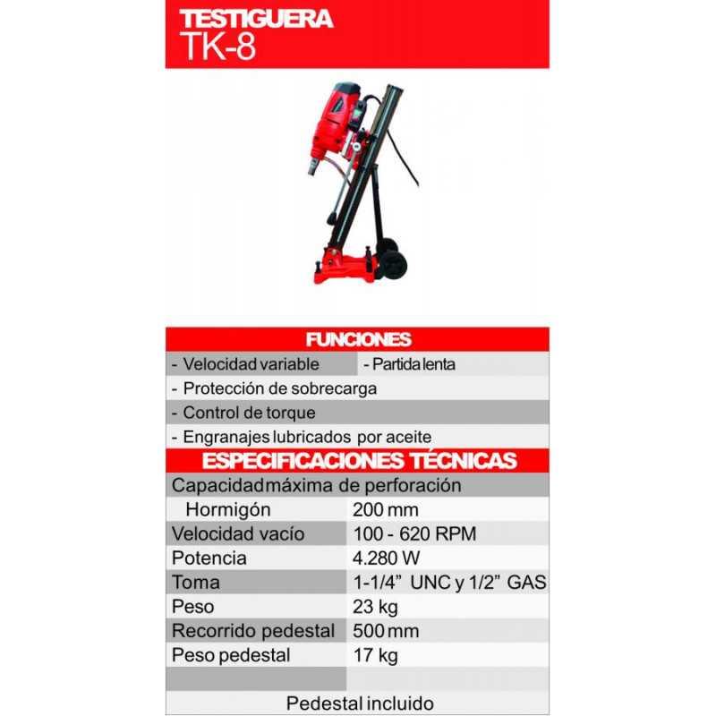 Testiguera Manual con pedestal 4.280 W 620 RPM Kothman TK-8
