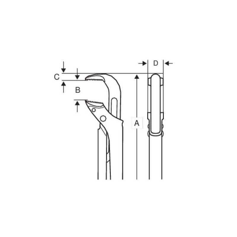 Llave de Tubo de 90° 72 cm Bahco 144