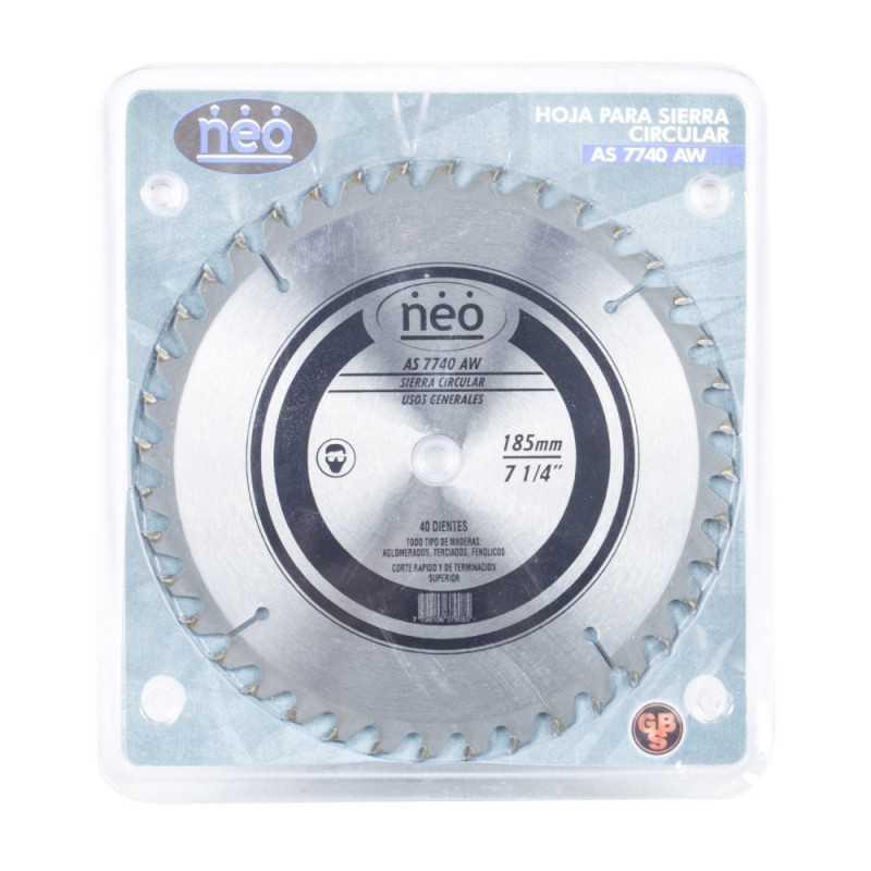"""Disco Sierra 7 1/4"""" 40 Dientes AS 7740 AW Neo MI-NEO-044483"""