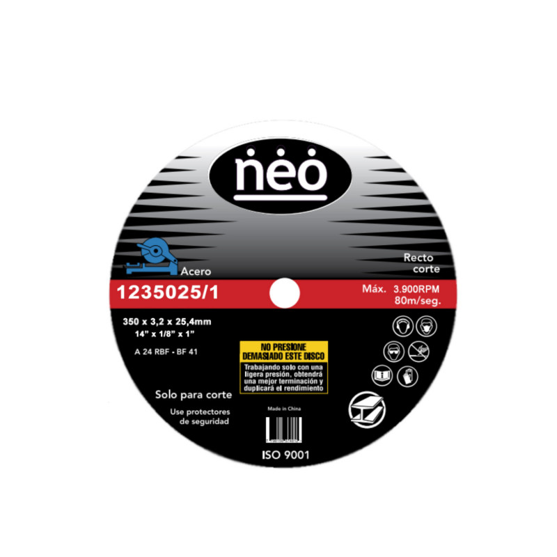"Disco de Corte 14"" x 3.2mm Acero 1235025/1 Neo MI-NEO-050737"