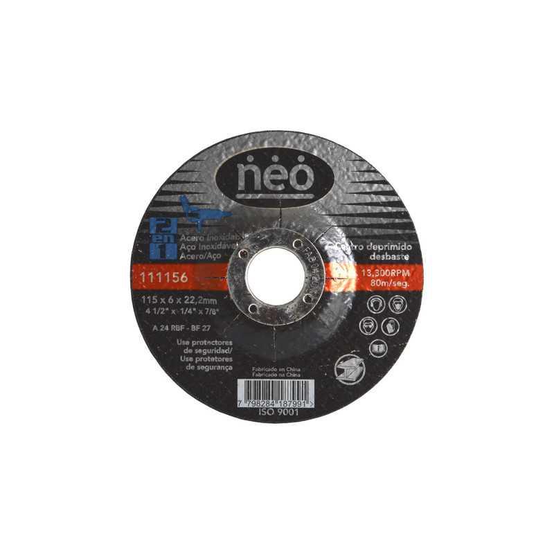 "Disco de Corte Debaste 4 1/2"" x 6 x 22.2mm Metal 111156 Neo MI-NEO-051046"