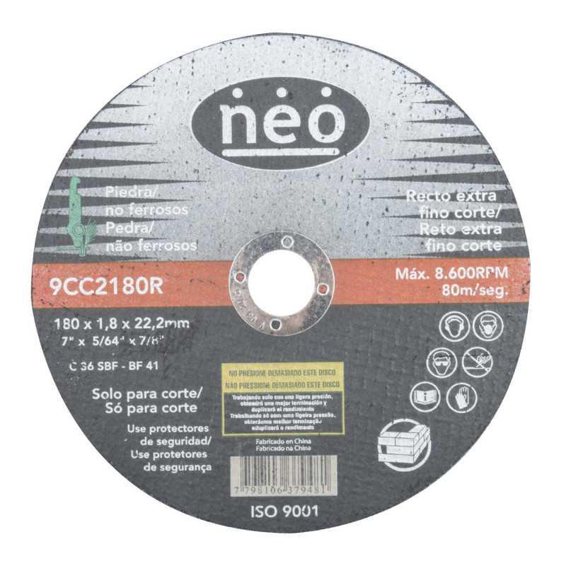 "Disco de Corte Piedra 7"" x 1.8mm x 22.2mm 9CC2180R Neo MI-NEO-042813"