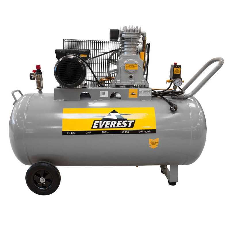 Compresor de aire 3hp 200 litros CE-820 Everest MI-EVE-049444