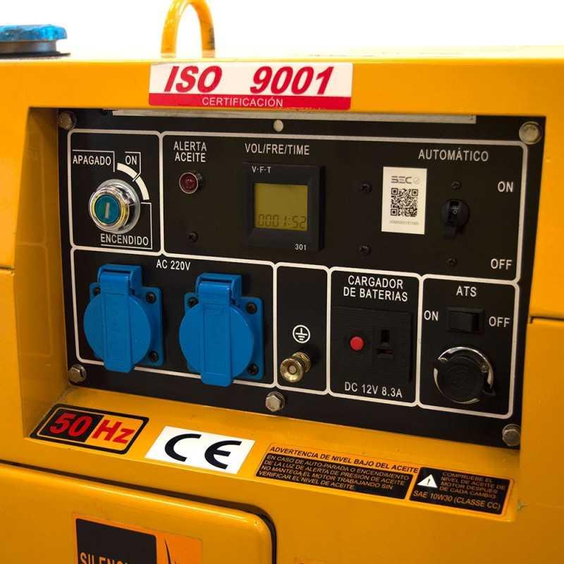 Generador Eléctrico Diesel 5.6kW Trifásico SDG6500S3 Sds Power MI-SDS-36815