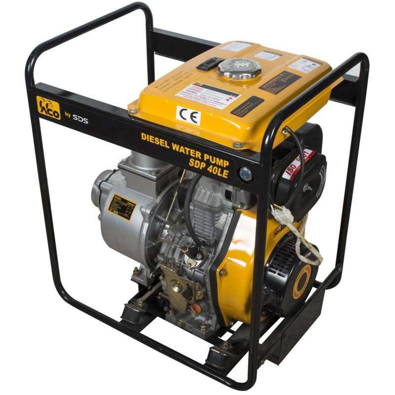 """Motobomba Diesel 4""""x4"""" 9.5 Hp SDP40LE Sds Power MI-SDS-44667"""