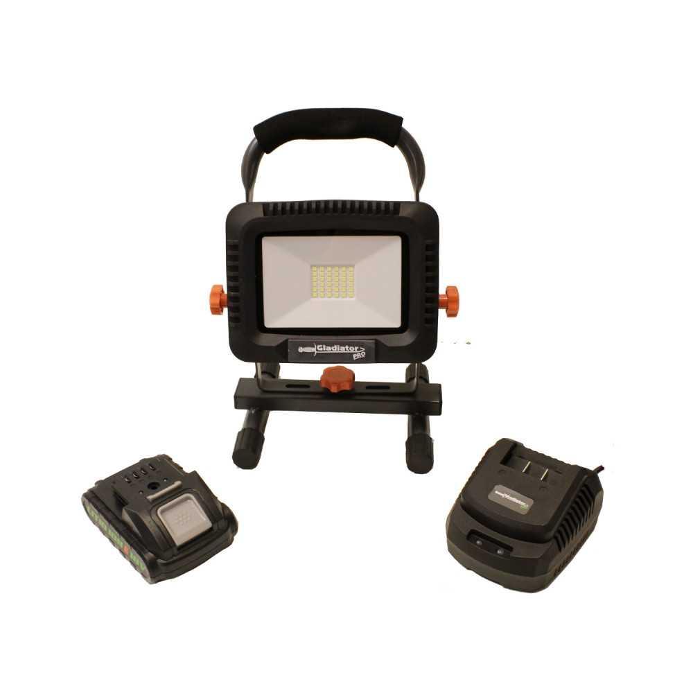 Lámpara de Trabajo 18V + 1 batería 18V 2.0Ah + cargador RF 820/18 C1 Gladiator MI-GLA-052984