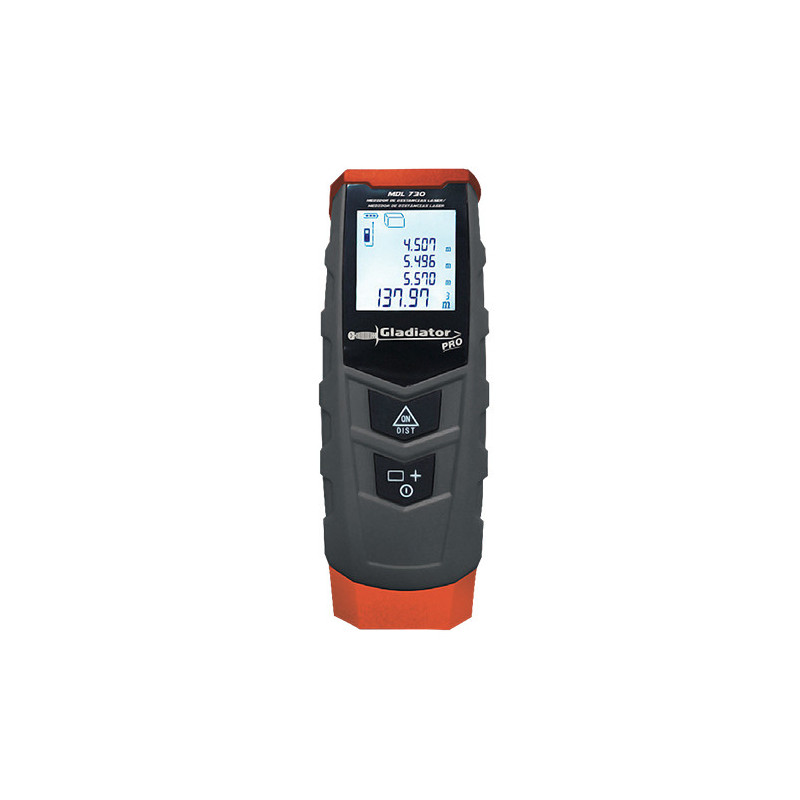 Medidor de distancia Láser 0.05-30 Metros MDL 730 Gladiator MI-GLA-050431