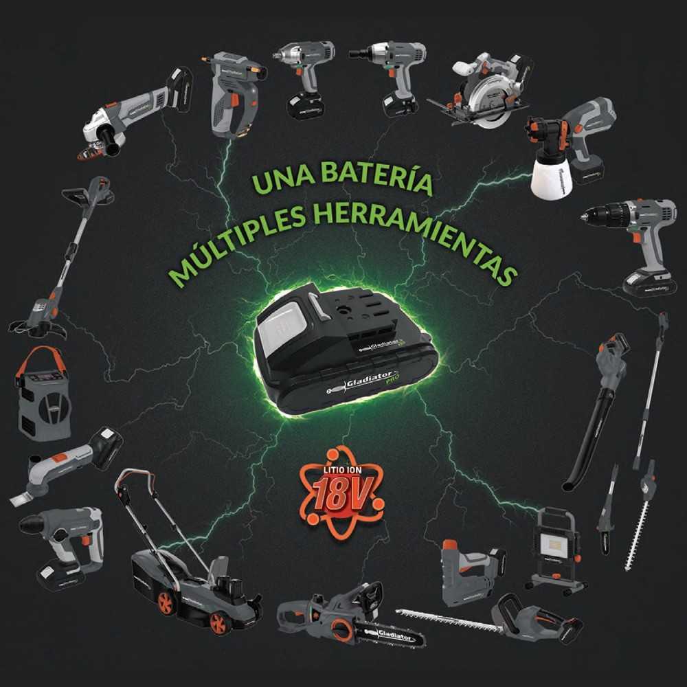 "Sierra Circular Inalámbrica 6 1/2"" 18V + 2 baterias + cargador SC 807/18 K2 Gladiator MI-GLA-052983"
