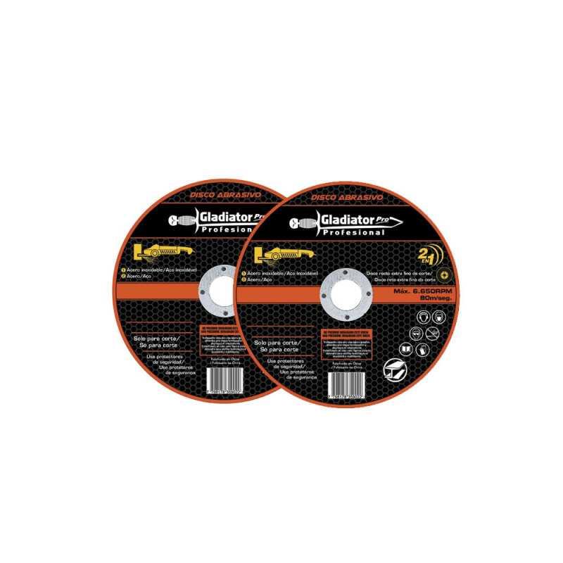 "Taladro Percutor 13MM 550W + Esmeril Angular 4 1/2"" + Discos de corte TP413/6-AA 415/2K Gladiator MI-GLA-051466"