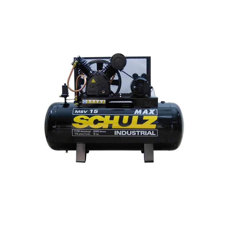 Compresor de aire 3HP 200 Lts 220V MSV157200932-335 Schulz MI-SCH-041865