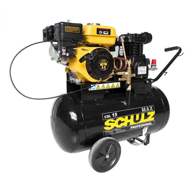 Compresor de Aire autónomo bencinero 5.5HP CSL15/80. Schulz MI-SCH-050694