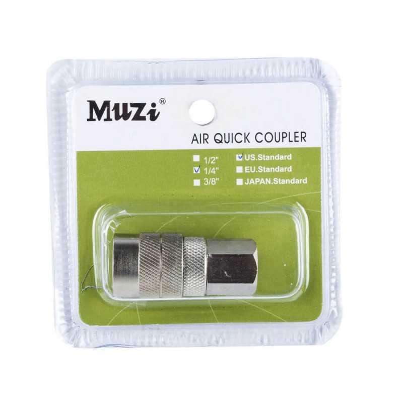 "Acople Rápido Hembra 1/4"" USF20-1/4 Muzi MI-MUZ-044107"