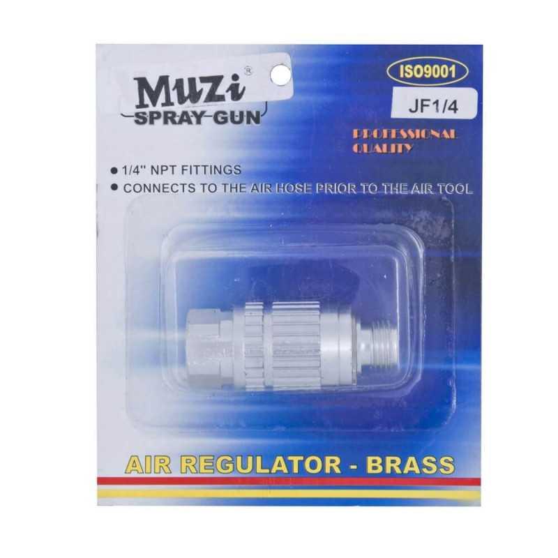 """Regulador de Aire 1/4"""" MACHO-HEMBRA JF-1/4 Muzi MI-MUZ-044113"""