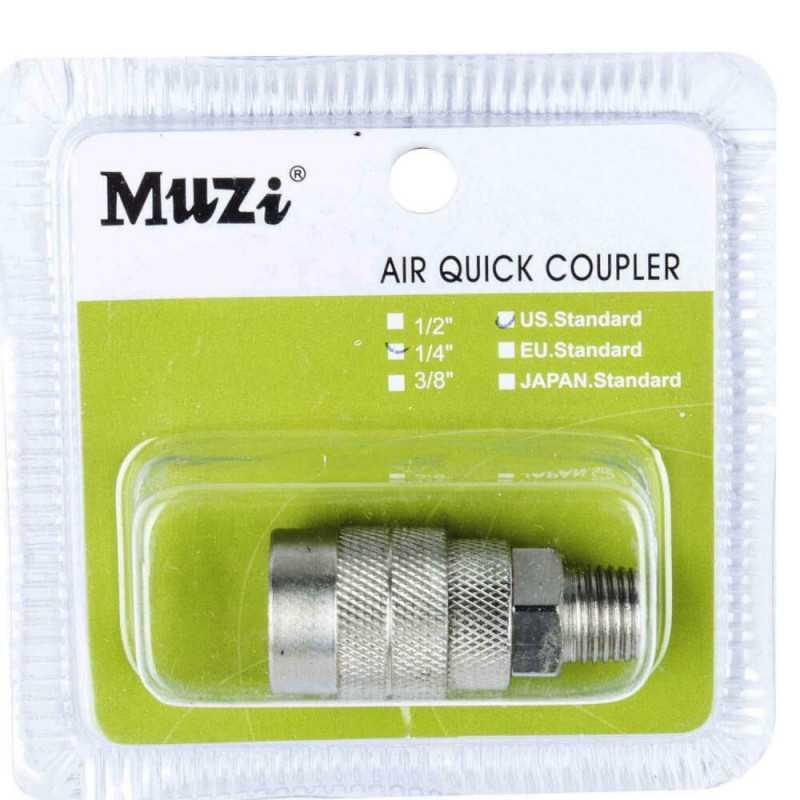 """Acople Rápido 1/4"""" Macho USM20-1/4 Muzi MI-MUZ-044109"""