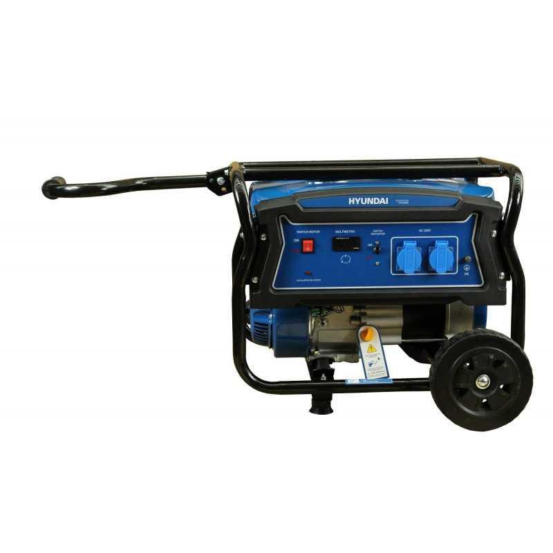 Generador Eléctrico Gasolina 2/2,2 Kva/Kw Partida manual monofásico Abierto HYUNDAI 82HYG3050