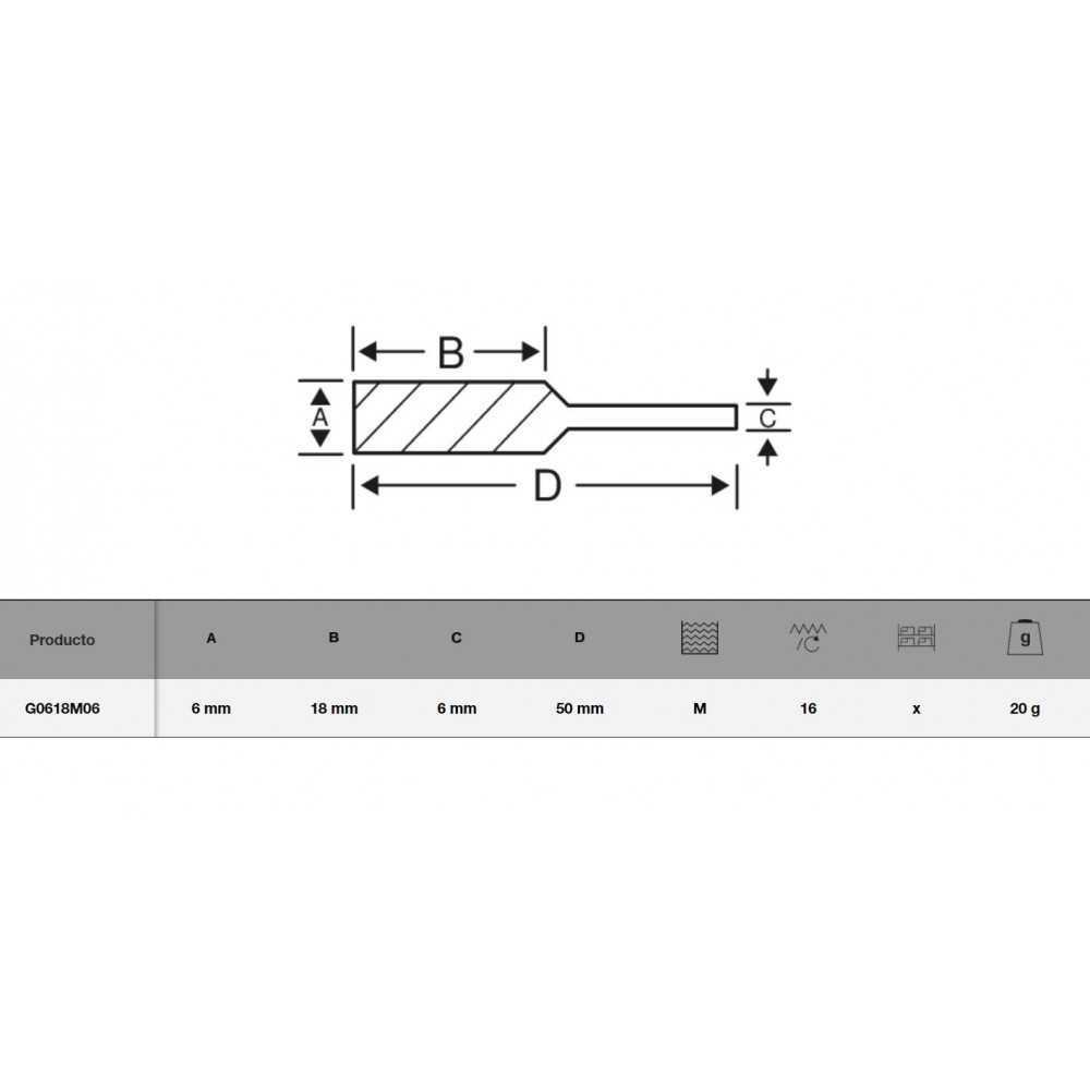 Lima Rotativa ojival 6x18 mm para metal Bahco G0618M06