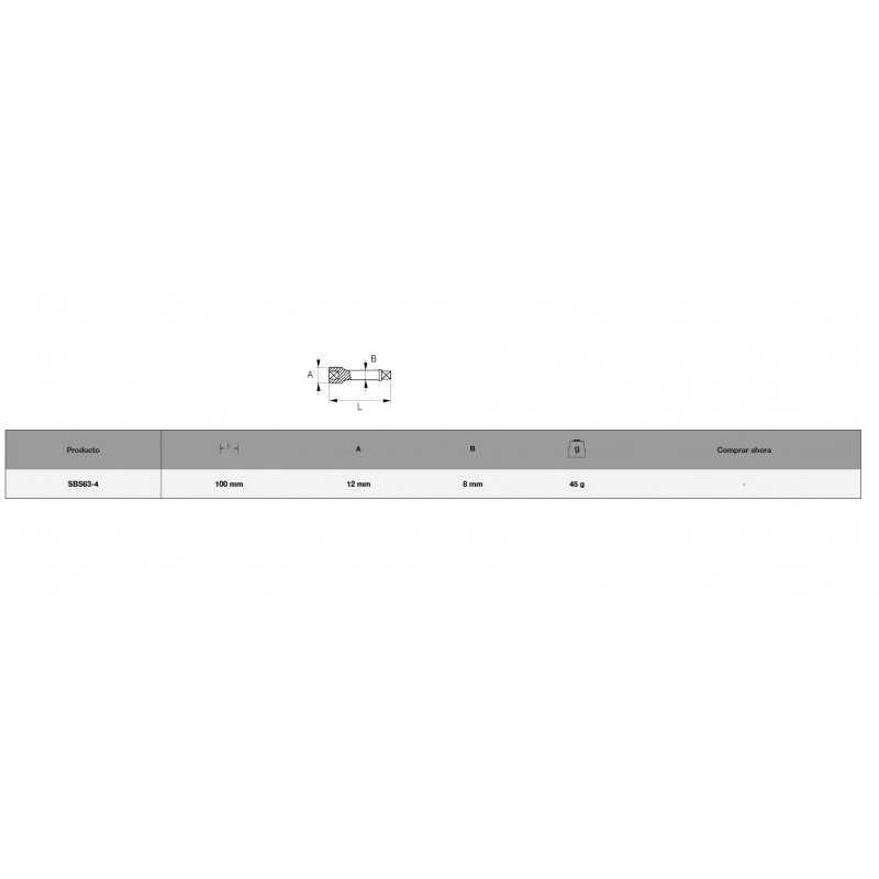 """Barra Extensión 1/4"""" x 100 mm Bahco SBS63-4"""