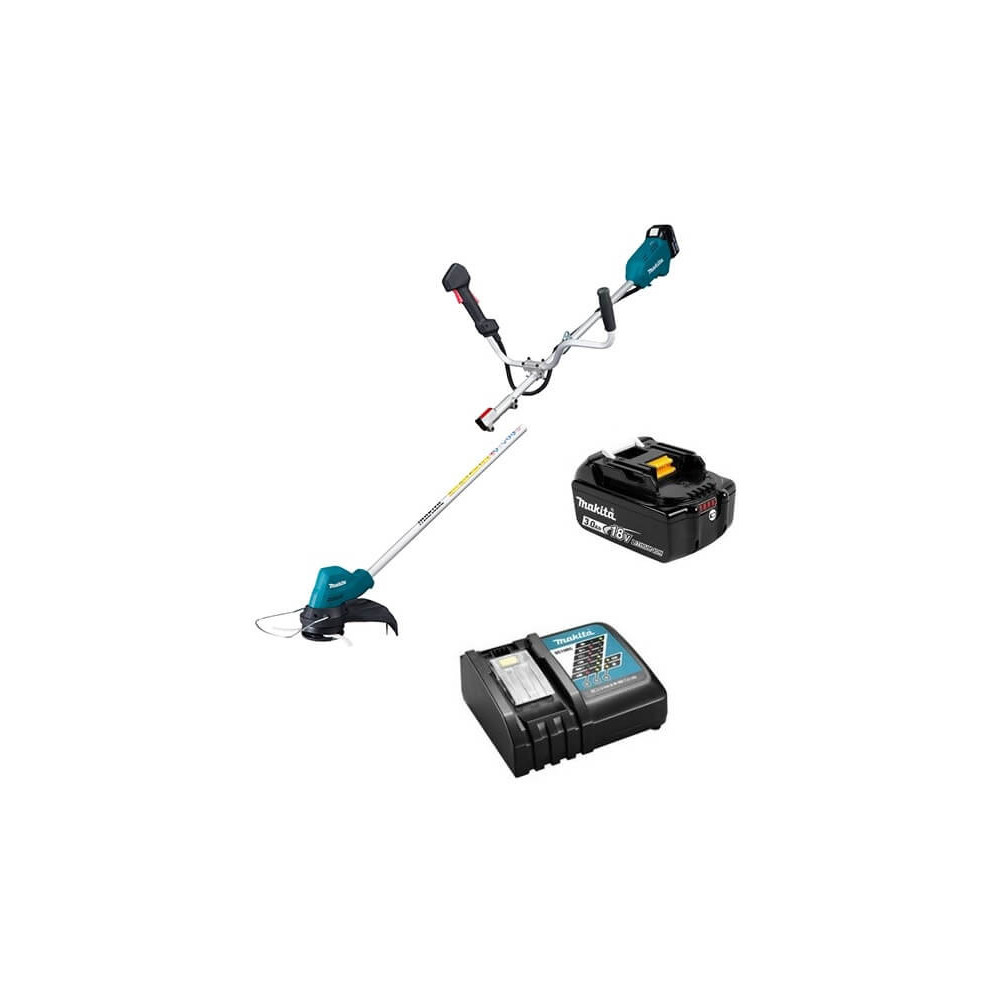 Orilladora Inalámbrica 18V + 2 baterías 3Ah + Cargador rápido simple Makita DUR188URFE