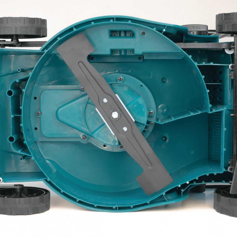 """Cortadora de Césped Inalámbrica 380mm (15"""") 18Vx2 (36V) + 2 baterías 5 Ah + Cargador rápido doble Makita DLM380PT2"""