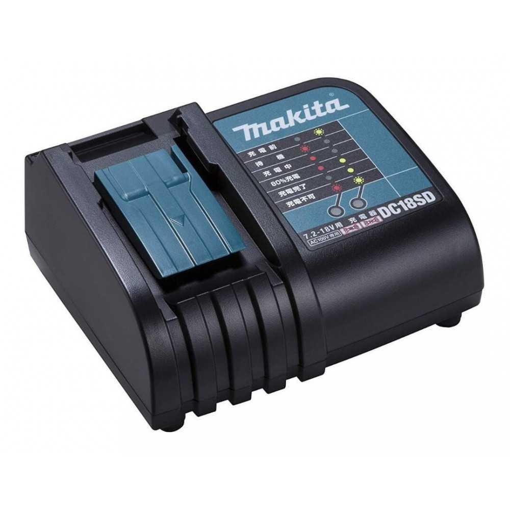 Chaqueta Térmica Amarilla Talla XL 18V+ Batería 18V 3Ah BL1830B + Cargador DC18SD Makita DCJ206ZXL-2