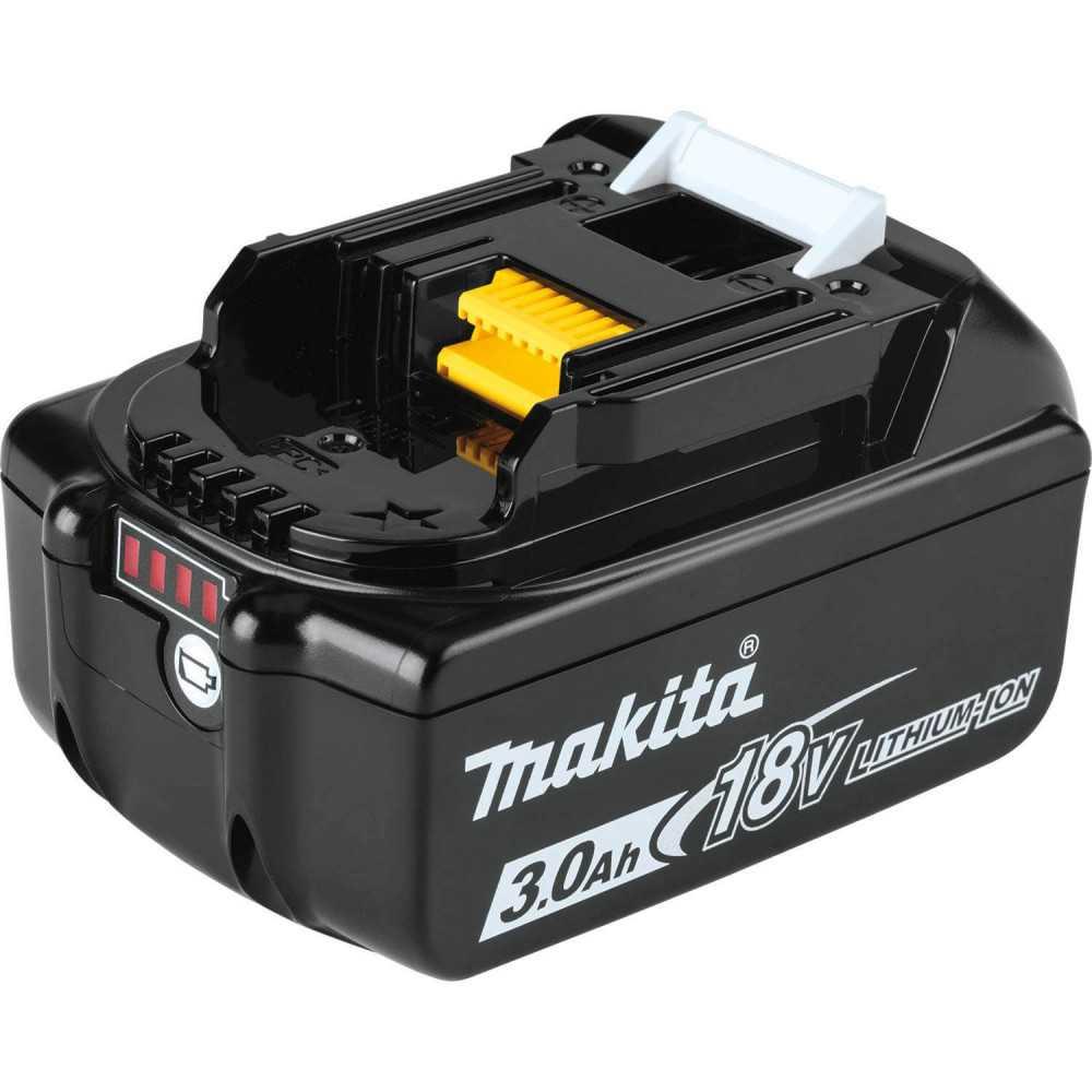 Chaqueta Térmica Amarilla Talla 2XL 18V+ Batería 18V 3Ah BL1830B + Cargador DC18SD Makita DCJ206Z2XL-2