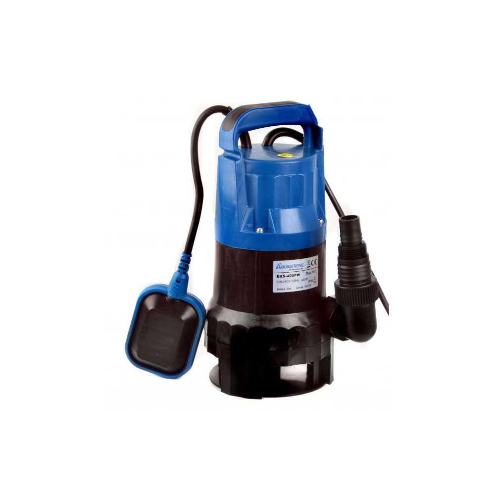 Bomba de Agua Sumergible Para Aguas Sucias 0.5 HP 220 V AQUASTRONG EKS400PW