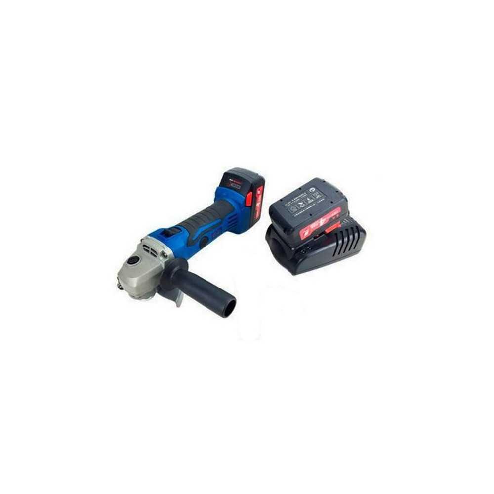 Esmeril Angular Inalámbrico 18V - 115 MM + Baterías 4 Ah + Cargador DONGCHENG DCSM115E
